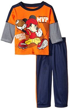 Disney Baby Boys 2 Piece Mickey MVP Pant Set Orange 12 Months >>> See this great product.Note:It is affiliate link to Amazon.