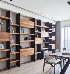 32 Extraordinary Bookshelf Design Ideas To Decorate Your Home More Beautiful Creative Bookshelves, Bookshelf Design, Tv Shelf Design, Home Office Design, Home Interior Design, Office Style, Display Shelves, Shelving, Display Ideas