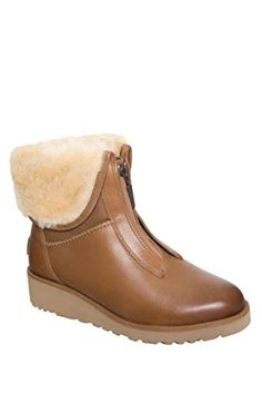 UGG Australia Women's Caleigh Boot B(M) US, Chestnut). UGGpureTM wool lining and insole. Treadlite by UGGTM outsole. Ugg Australia, Womens Slippers, Partner, Ugg Boots, Chelsea Boots, Uggs, Wedges, Booty, Ankle