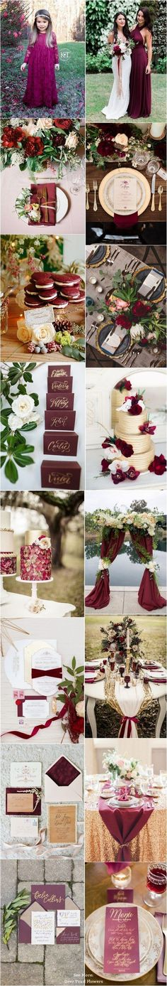 burgundy and gold fall wedding color ideas / http://www.deerpearlflowers.com/burgundy-and-gold-wedding-ideas/ #WeddingIdeasGold #BurgundyWeddingIdeas