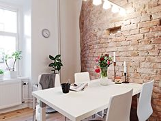 Gorgeous Brick Wall (Apartment for sale in Sweden)