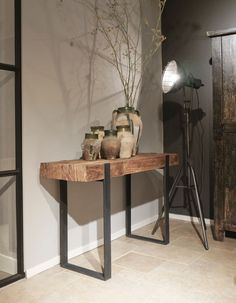 Sidetable Fatboy - Kleinmeubelen - Collectie - Looiershuis - The most beautiful home decor list Living Room Decor Styles, Rustic Living Room Furniture, Hall Furniture, Steel Furniture, Interior Design Living Room, Vintage Furniture, Flur Design, Traditional Interior, Eclectic Decor