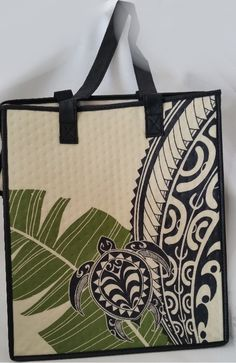 Polynesian Designs - *NEW* Large Tribal Turtle Cream Reusable Bag, $8.00 (http://www.polynesiandesigns.com/new-large-tribal-turtle-cream-reusable-bag/)