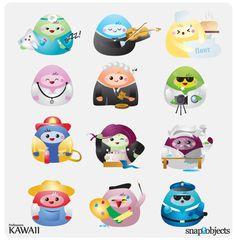 Free Vector Kawaii Professions Icons