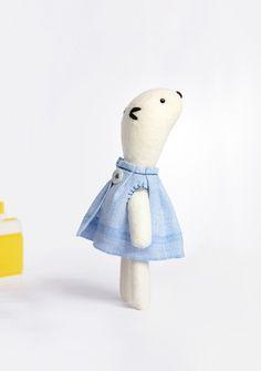 handmade stuffed animal from Popetse Toys in Paris, France