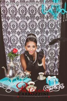 Tiffany OFF! Breakfast at Tiffanys Audrey Hepburn Tiffany and Co Quinceañera Photo Session Sweet Sixteen Photo Session Tiffany Sweet 16, Tiffany Blue Party, Tiffany Birthday Party, Tiffany Theme, Azul Tiffany, Tiffany Wedding, Tiffany And Co, Birthday Party Themes, Bunco Themes