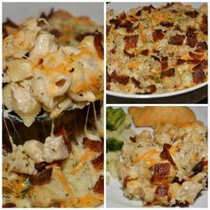 Facebook Pinterest PrintIngredients: 1/2 lb. bacon, cooked and chopped 1 lb. boneless, skinless chicken breasts, diced 1 tbsp. olive oil 1 packet dry Ranch dressing mix 8 oz. pasta (I used Shells) 1 cup Mozzarella cheese, shredded 1/2 cup Cheddar cheese, shredded Salt/Pepper to taste …