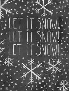 let it snow christmas chalkboard card from etsy seller lily and val
