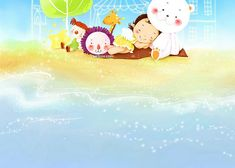 Sweet Childhood - Colorful Children illustrations by Kim Jong Bok  - Happy Childhood - Sweet Girl Art Illustration Wallpaper 11