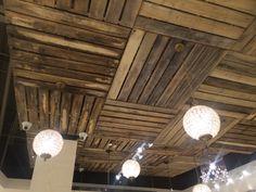 Wood Pallet Ceiling