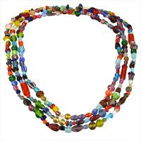 Multi Mix Long Necklace at The Hunger Site