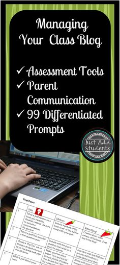 Interested in hosting a blog for your class? Here are guidelines, student/parent forms, assessment tools, 99 differentiated prompts for student blogs, and easy to use teacher forms. Start blogging with your class!