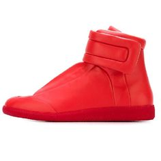 """S37WS0262 SX8966 312 - Maison Margiela: Future High Sneaker - """"Red"""" Pumps Heels, Flats, Flat Wedges, Red Shoes, Trainers, Future, Sneakers, Men, Fashion"""