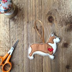 A personal favorite from my Etsy shop https://www.etsy.com/uk/listing/245176847/welsh-corgi-decoration-penbrokeshire