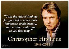 Christopher Hitchens - author, satirist, speaker on atheism, anti-theism, and reason