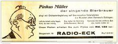 Original-Werbung/ Anzeige 1939 - PINKUS MÜLLER SCHALLPLATTEN / RADIO ECK…