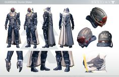Dress Up as Your Favorite Guardian With This Handy Destiny Cosplay Guide - Character Model Sheet, Character Concept, Character Art, Character Design, Concept Art, Destiny Costume, Destiny Cosplay, Destiny Hunter, Suits