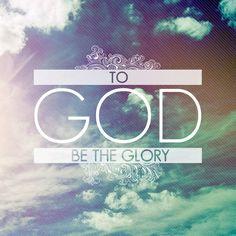 Ephesians 3:21 Glory to God Stretched Canvas