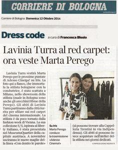 Il Corriere di Bologna del 12 ottobre 2014 parla di Lavinia Turra.