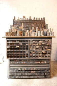 Printing block cabinet - or this one <3