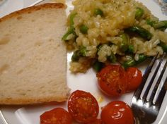 Yum!  Risotto with Asparagus, Lemon & Peas!
