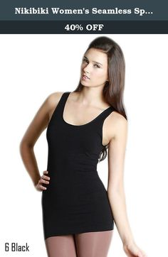 Nikibiki Women's Seamless Spandex Regular Wide Strap Tank-Black(#6). NiKiBiKi is one of the leading manufaturers of seamless knit wear. Seamless clothing provides a perfect body fit with maximum comfort eliminating irritating side seams thanks to the seamless technology. Their fashionable basics are the perfect foundation for every wardrobe!.