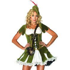 Disfraz de Robin Hood     Leg Avenue Thief of hearts woman costume    Sexy disfraz de Robin Hood    El Sheriff de Nottingham no podrá quitar sus ojos de ti con este lujoso disfraz de Robin Hood