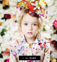 Jamie Warmanberg posted Fashion kids editorial flowers to his -For my kids closet- postboard via the Juxtapost bookmarklet. Fashion Kids, Little Girl Fashion, Fashion Gal, Colorful Fashion, Paris Fashion, Fashion Clothes, Fashion Shoes, Kristina Pimenova, Stylish Kids