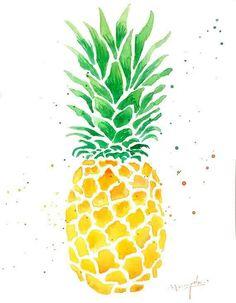 Ananas Aquarell