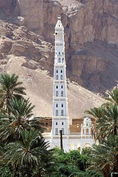 The minaret of the Al Muhdhar Mosque at Tarim, Yemen