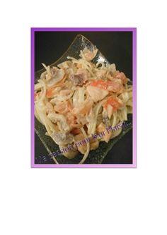 spaguetti au saumon et légumes