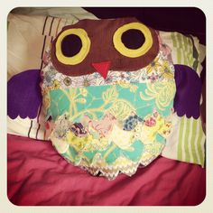 Owl Cushion Cover with 15 cushion insert by TheEclecticStitch,