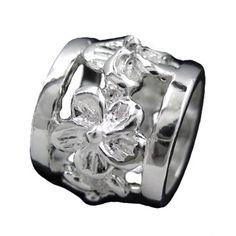 Amazon.com: 925 Silver Plumeria Bead Barrel Pendant Hawaiian Jewelry: Jewelry $27