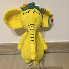 In this article I will share a wonderful amigurumi pattern again. You can enjoy this beautiful amigurumi elephant free english pattern.  Materials  Yarn Pekhorka children's novelty,  1 skein of the main color, half  skein of a different color  Hook 1.5-1.75 Crochet Food, Crochet Baby, Elephant Pattern, Amigurumi Toys, Crochet Animals, Main Colors, Sheep, Free Pattern, Dinosaur Stuffed Animal