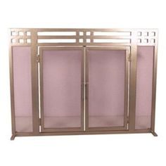 Layton Pewter Single-Panel Fireplace Screen-DS-20898 - The Home Depot $150