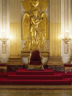 Photographic Print: Detail of Throne Room, Royal Palace of Caserta : Throne Chair, Throne Room, Naples, Royal Throne, Palace Interior, Palace Of Versailles, Voyage Europe, Marquise, Royal Palace