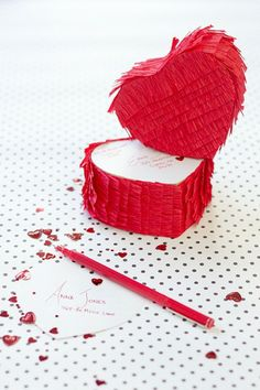 DIY Piñata Love-grams covered can be mailed to friends and family! Who wouldn't love this in their mailbox?