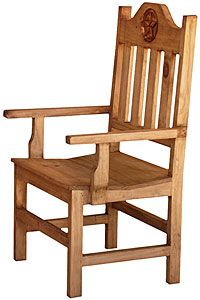 Place this rustic southwest armchair at both ends of a dining table or in any room where you need extra seating. You'll appreciate the traditional hand carved detail and the curved seat will give you the comfort you crave. Mexican craftsmen have hand made this very affordable chair of solid pine.