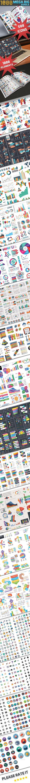 Mega Big Bundle (1000 Elements) - Infographics Ppt Design, Design Art, Pattern Design, Free Infographic, Infographic Templates, Ai Illustrator, Vector Shapes, Graphic Design Inspiration, Business Infographics