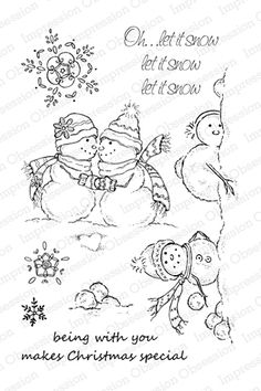 Impression Obsession Rubber Stamps Clear Stamp Set