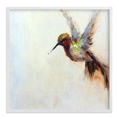 """The Humbly Hummingbird "" - Painting Limited Edition Art Print by Amanda Faubus. Large Canvas Art, Large Wall Art, Hummingbird Painting, Custom Art, Art Reference, Wall Art Prints, Etsy, Fine Art, Artwork"