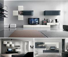 1000 images about centros de tv on pinterest tvs wall - Muebles salones pequenos ...
