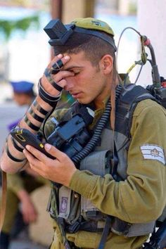 Praying for our soldiers. Peace and Love from and to the Holy Land