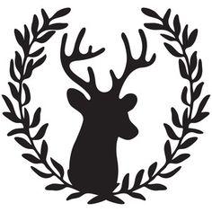 Silhouette Design Store: deer wreath