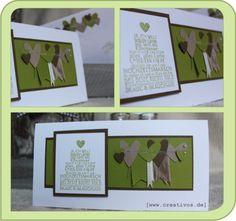www.creativos.de - Pam stempelt :): Hochzeit in grün....