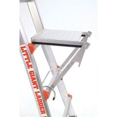 Little Giant Ladder Systems Rated Work Platform Ladder Accessory 375 Pound Platform Ladder, Ladder Accessories, Best Ladder, Aluminium Ladder, Folding Ladder, Paint Buckets, Little Giants, Scaffolding, Metal Projects