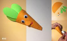 Paper Craft Idea for Kids - Classroom Door Displays, Arts And Crafts, Paper Crafts, Construction Paper, Craft Activities, Diy For Kids, Ladybug, Elephant, Vegetables