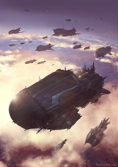 We have a collection of incredible images by Polish artist Slawomir Maniak, his work very much covers our favourite subjects of Sci-Fi, Fantasy and Horror! Spaceship Art, Spaceship Concept, Concept Ships, Concept Art, Arte Sci Fi, Sci Fi Art, Stargate, Star Wars, Art Science Fiction