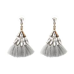 Moscow Crystal Tassel Earrings