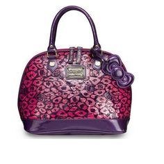 Lounge fly Hello Kitty Pink Leopard Patent Embossed Dome Bag Women Purse